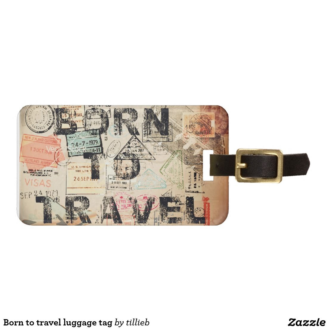 876bfe4a7765 Born to travel luggage tag | Travel | Travel luggage, Luggage ...