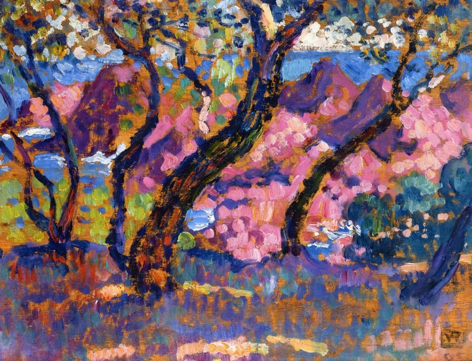 In the Shade of the Pines (study), 1905 ,by Theo van Rysselberghe