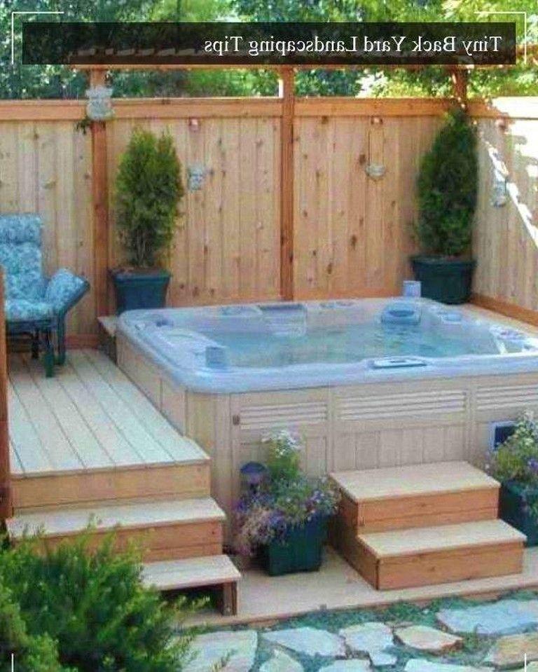 12 Small Backyard Landscaping Ideas On A Budget Hot Tub Backyard Small Backyard Landscaping Hot Tub Deck Design