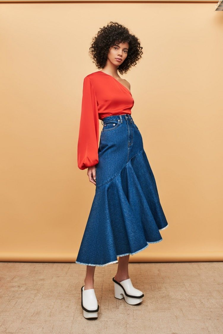 bb27ceaaf7 Noe Skirt Even Blue   Spring Summer Outfit in 2019   Skirts, Pink ...