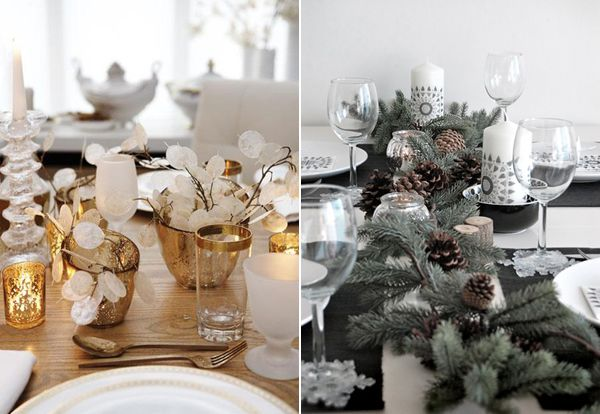 Modern christmas table decorations decorating - Modern christmas table settings ideas ...
