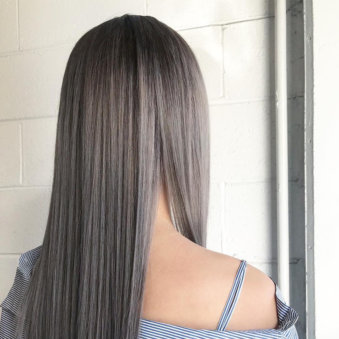 Dark Silver Grey Aveda Hair Color By Aveda Artist Rory Calasse Aveda Hair Color Aveda Hair Grey Hair Color Silver