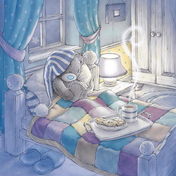 Картинки, мишка спокойной ночи картинки