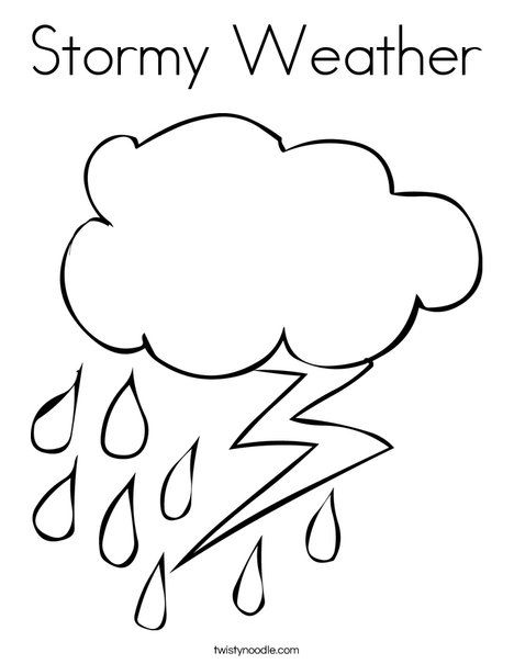 Stormy Weather Coloring Page Austin Pinterest Weather Crafts