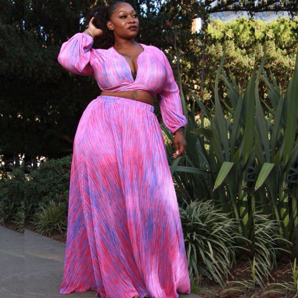Big Size 5xl Printed Tops And Long Skirt Two Piece Dress Two Piece Dress Skirt Set Plus Size [ 1000 x 1000 Pixel ]