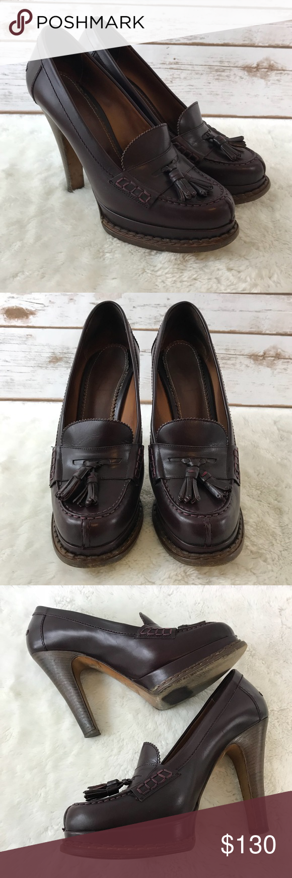 36bd26f6335e Yves Saint Laurent YSL Oxford Heels (Bin  SE9) Yves Saint Laurent YSL Oxford