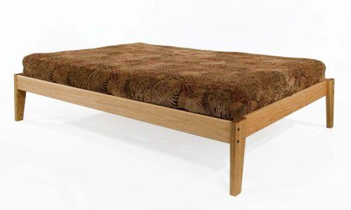 Queen Size Solid Oak Platform Bed Frame Eco Friendly Clean