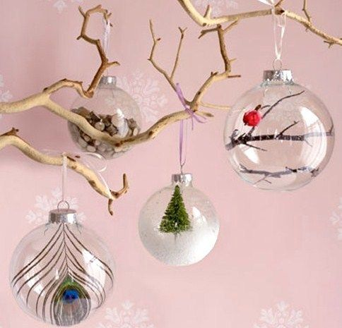 Comment décorer et garnir des boules de Noël transparentes, des