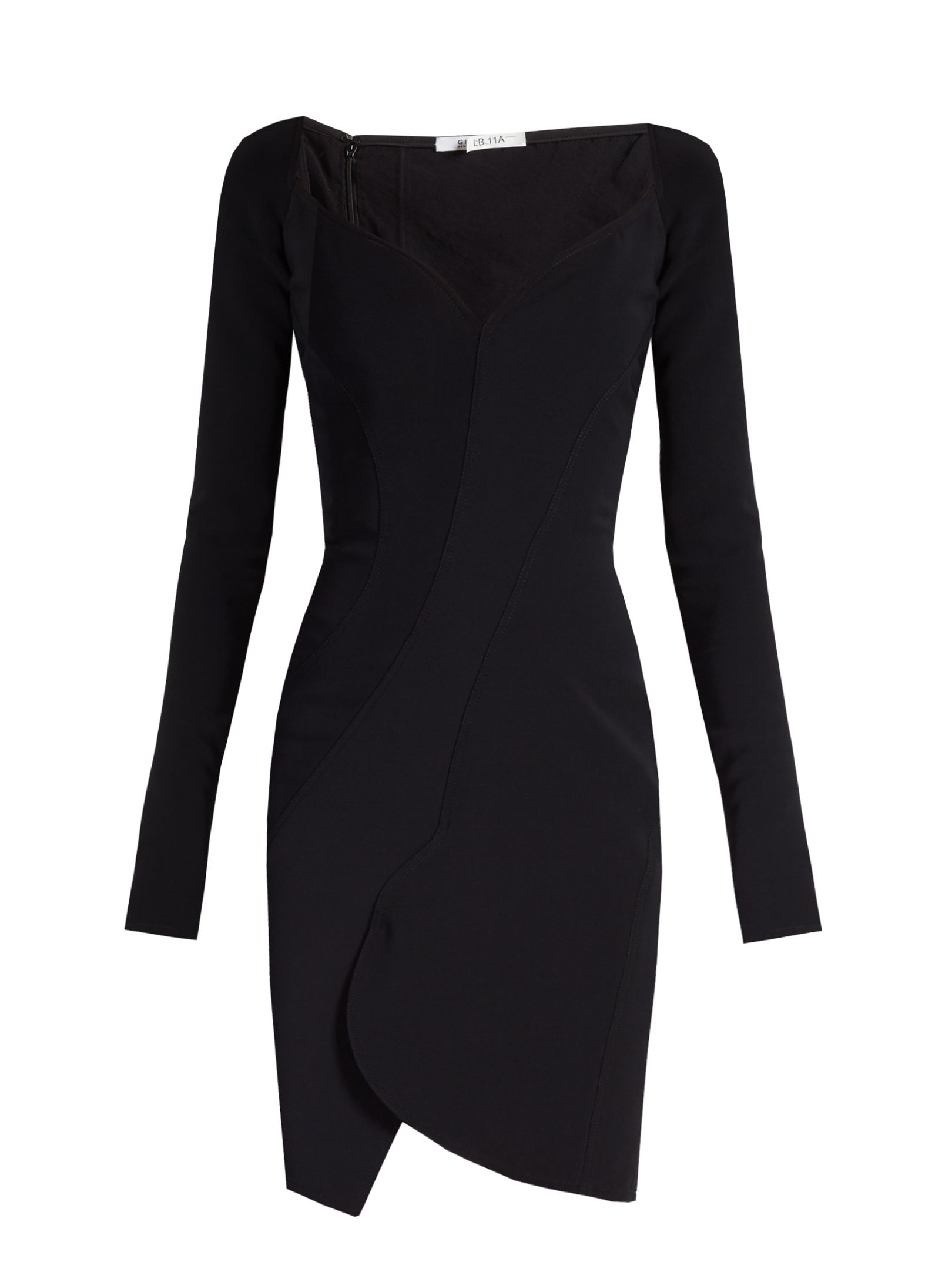 Sweetheart-neckline crepe dress Givenchy BLzsFw