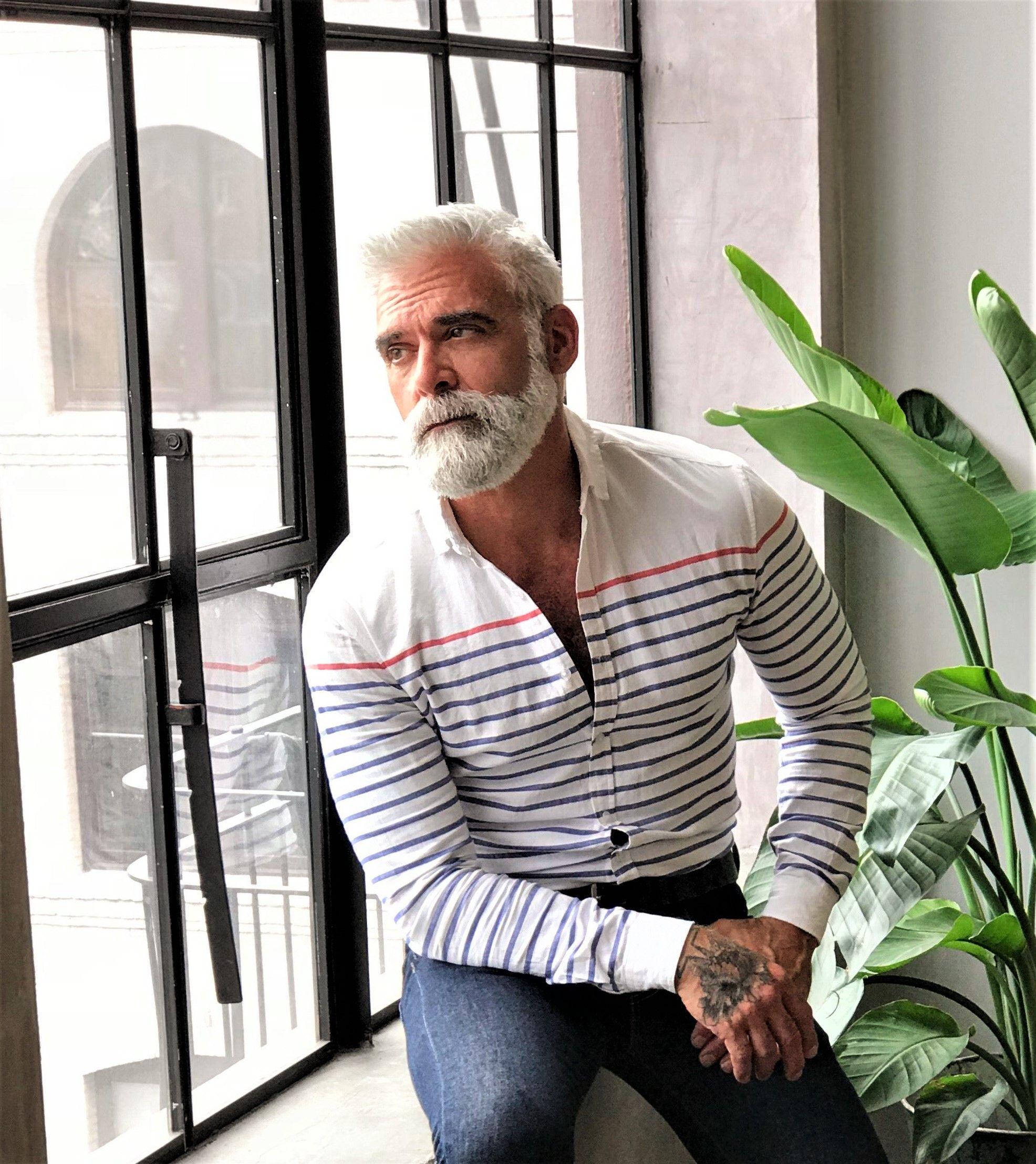 Pin by mark m on beards pinterest bearded men grey hair men and