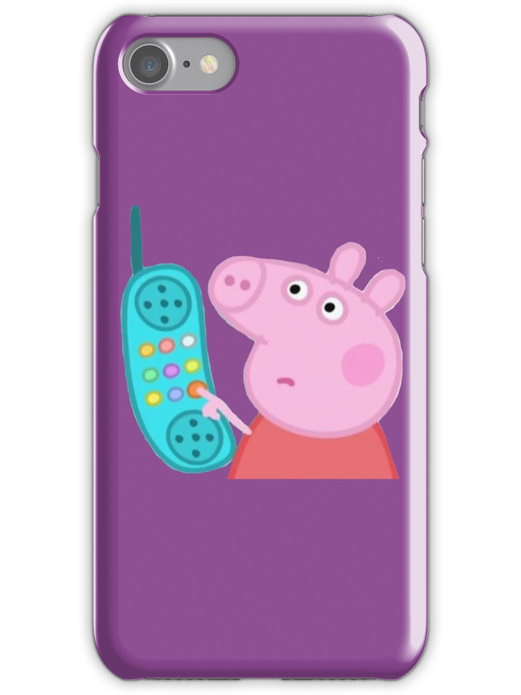 Peppa Pig Hanging Up The Phone : peppa, hanging, phone, Peppa, Hanging, Sticker, IPhone, Iphone, Stickers,, Cases,