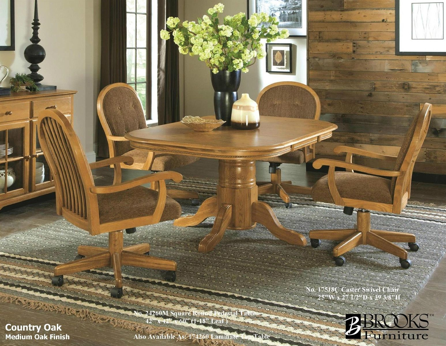 Brooks Table And 4 Caster Chairs 179900 Boyd Furniture Dining