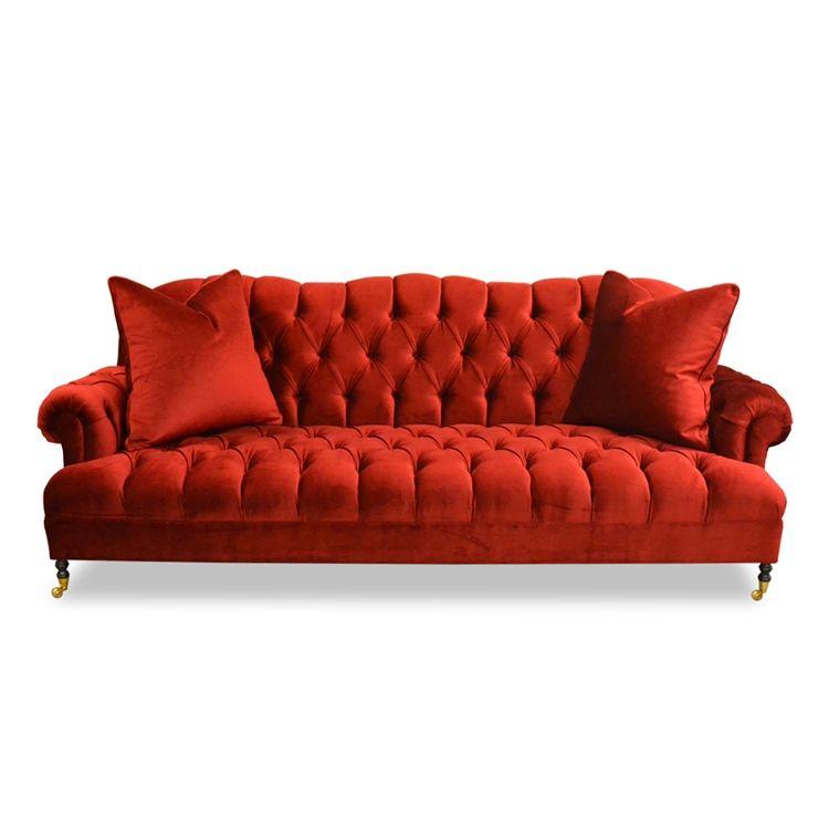 Smith Red Velvet Sofa Red Velvet Sofa Velvet Sofa Velvet Dining Room Chairs