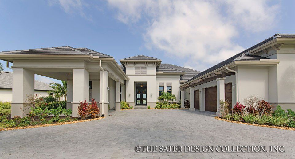 The Bingley House Plan L Sater Design Collection L Modern House Plans L  Contemporary Home Plans