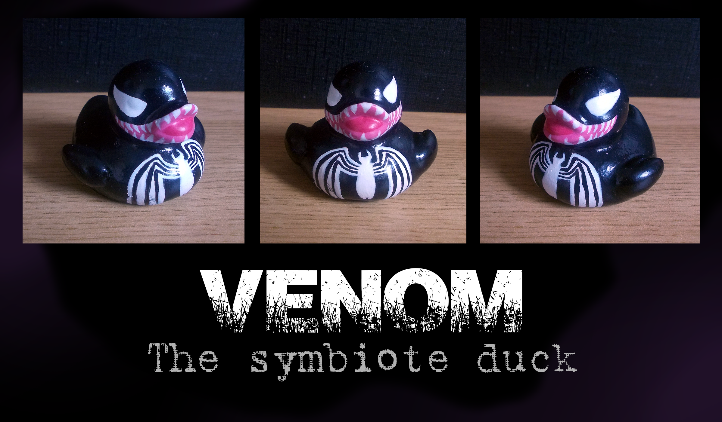 Mini Hand Painted Venom Rubber Duck From My Personal Collection Rubber Duck Custom Toys Symbiote