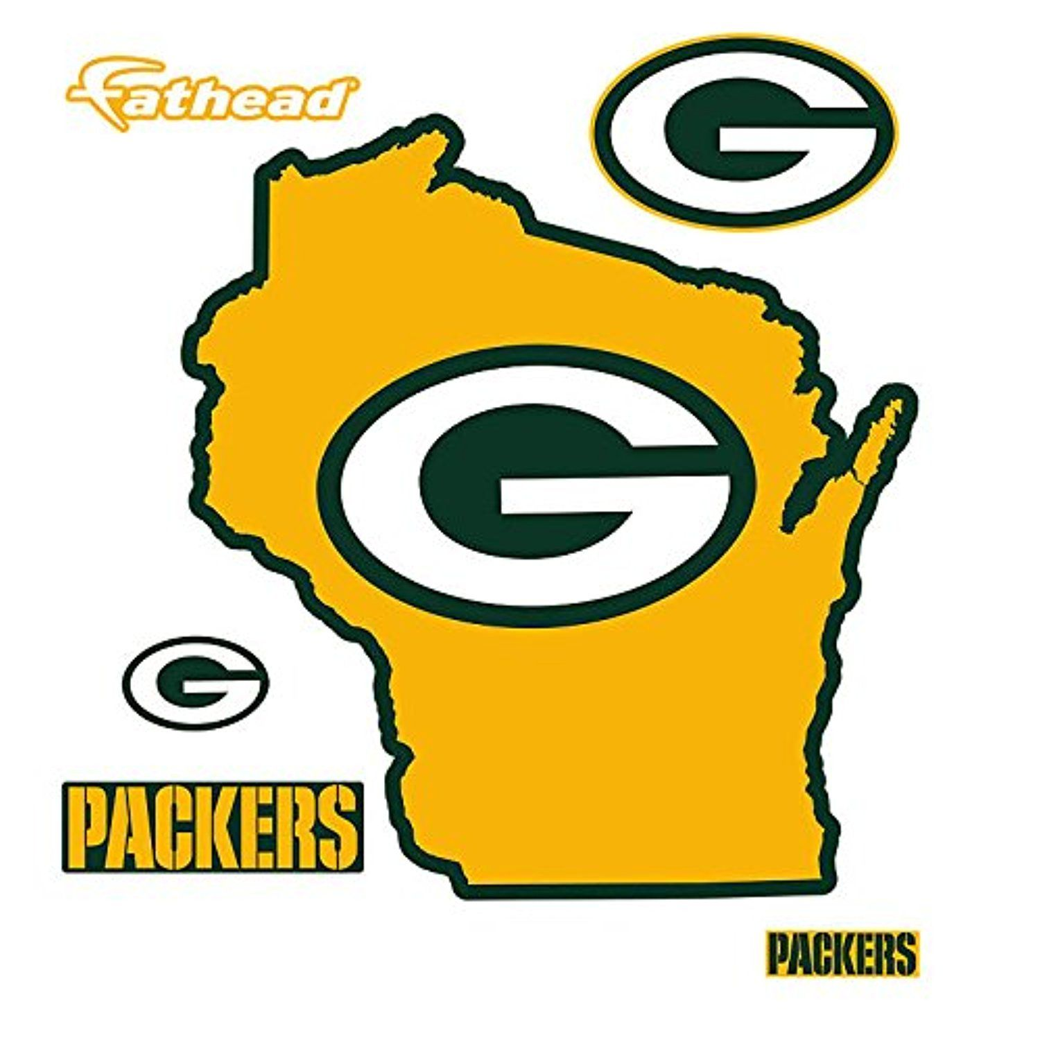 Green Bay Packers   State Of Wisconsin Logo Wall Decal By Fathead 3u00274 Part 61