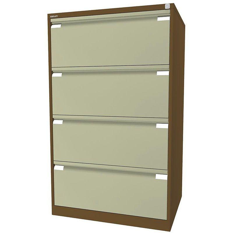 Bisley Classeur Pour Dossiers Suspendus A 2 Rangees 4 Tiroirs Format A4 Brun Sepia Creme Df4502 Home Decor Furniture Decor