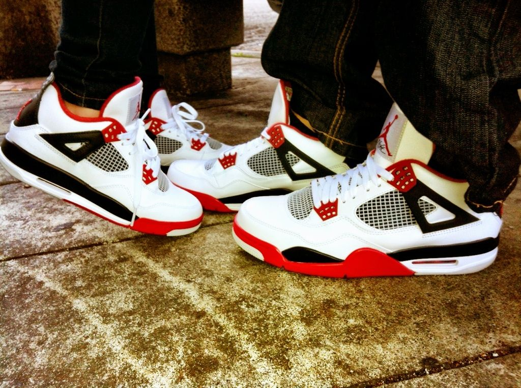 promo code a30bd 8bf01 Air Jordan's fire red 4s him and hers My kicks ;) | SpLaSHy ...