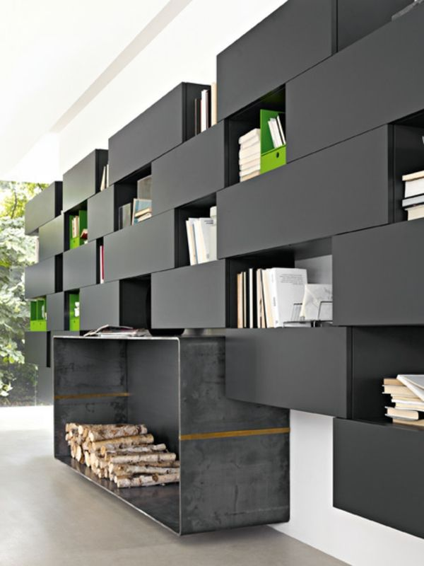 meuble design unique modules forte piano de molteni etagere noire meuble. Black Bedroom Furniture Sets. Home Design Ideas