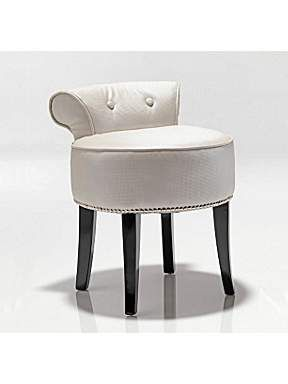Elegant White Pearl Dressing Table Stool