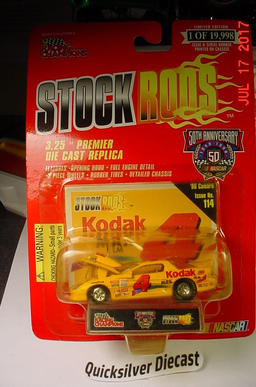Racing Champions 96 Camaro Pro Stock Kodak 4 1998 114 BP Stock Rods ...