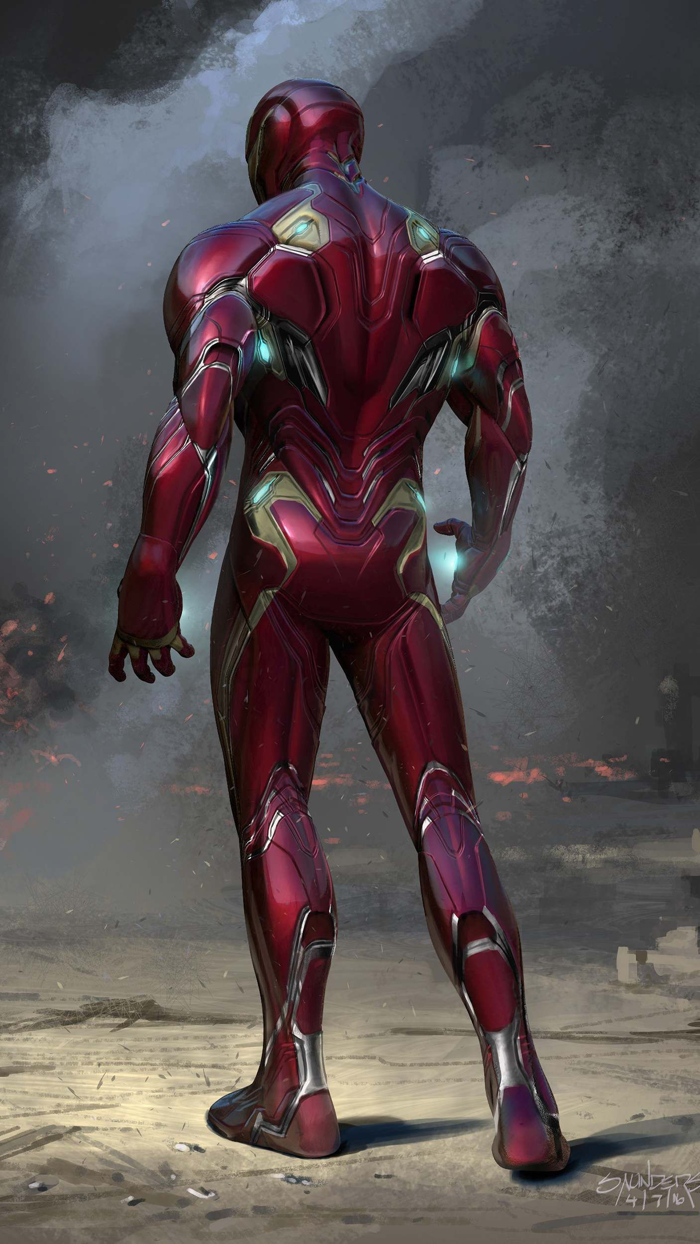Nano Tech Suit Iron Man Iphone Wallpaper Héros Marvel