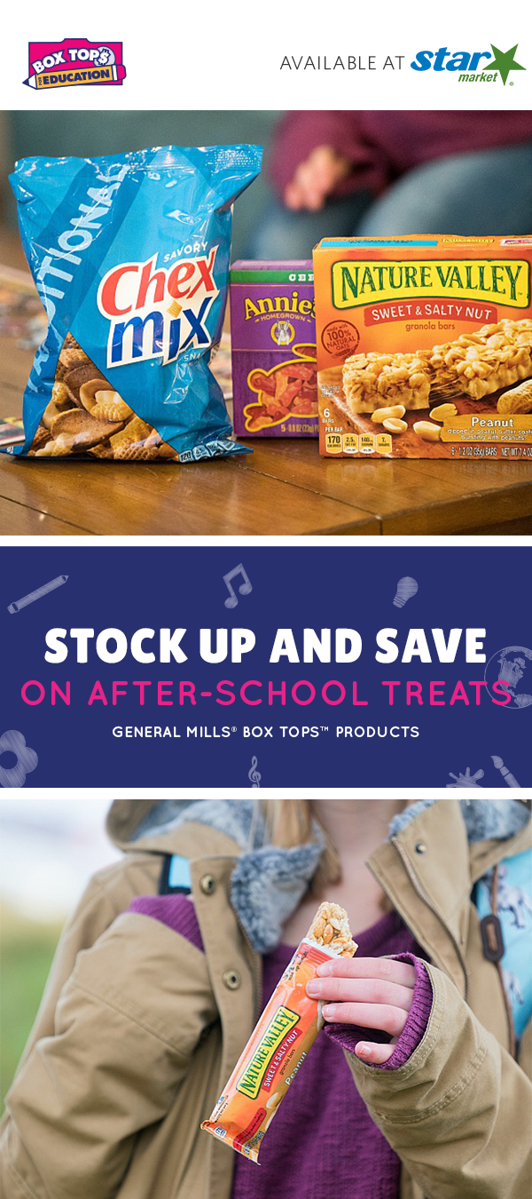 Stock up on afterschool snacks with General Mills® Box