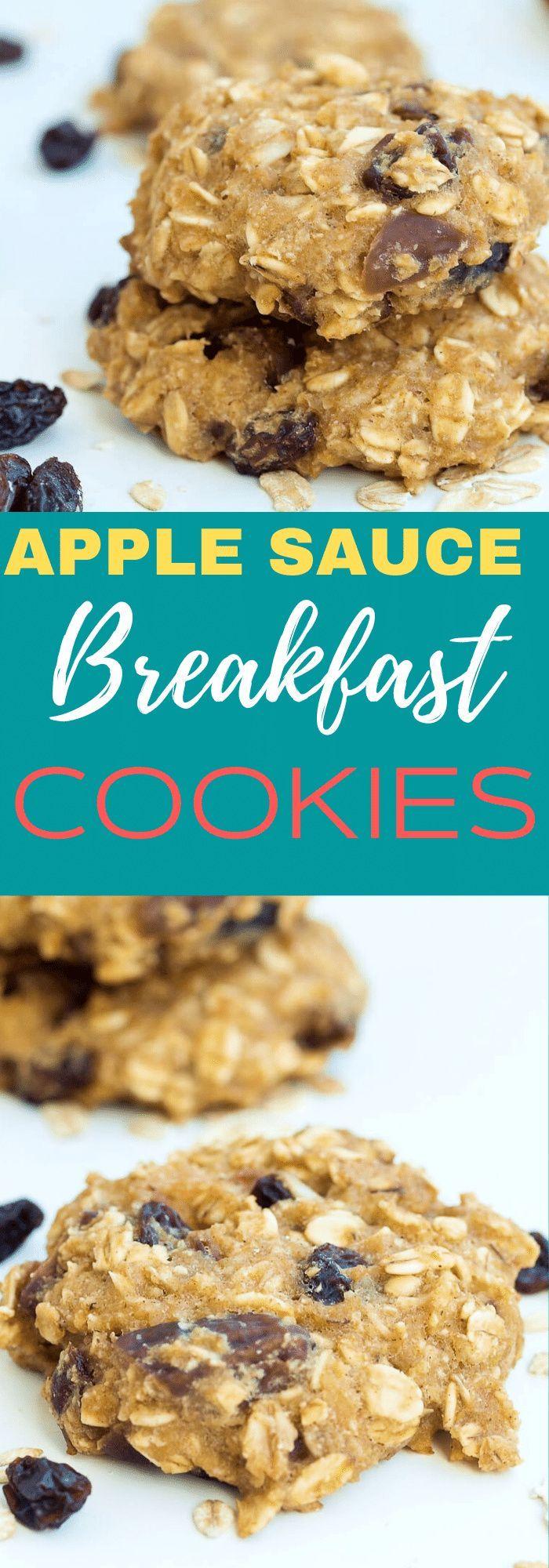 Applesauce Breakfast Cookies In 2020 Breakfast Cookies Healthy Cookies Healthy Cookies For Kids