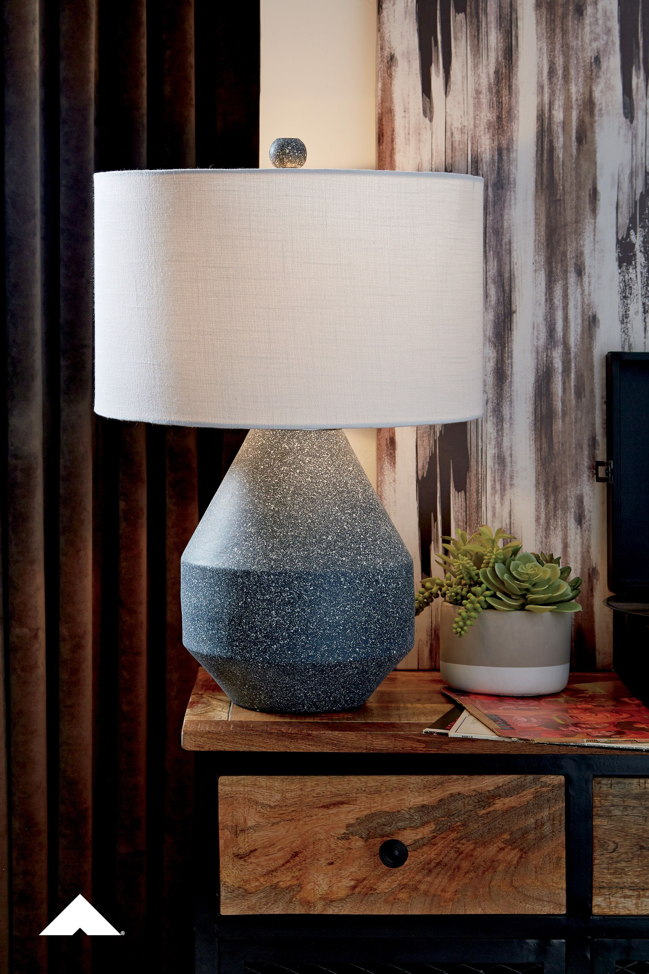 Kristeva Blue Metal Table Lamp By Ashley Furniture Industries Inc Cool And Contemporary From Every Angle This Table Lamp In 2020 Metal Table Lamps Table Lamp Lamp