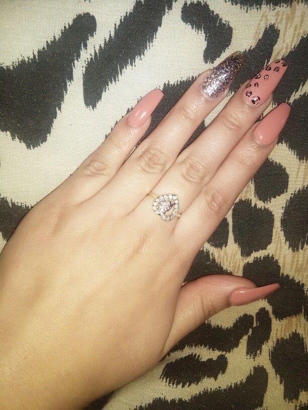 Coffin nails cheetah long nails acrylic nail designs pinterest acrylic nail designs coffin nails cheetah long nails prinsesfo Images