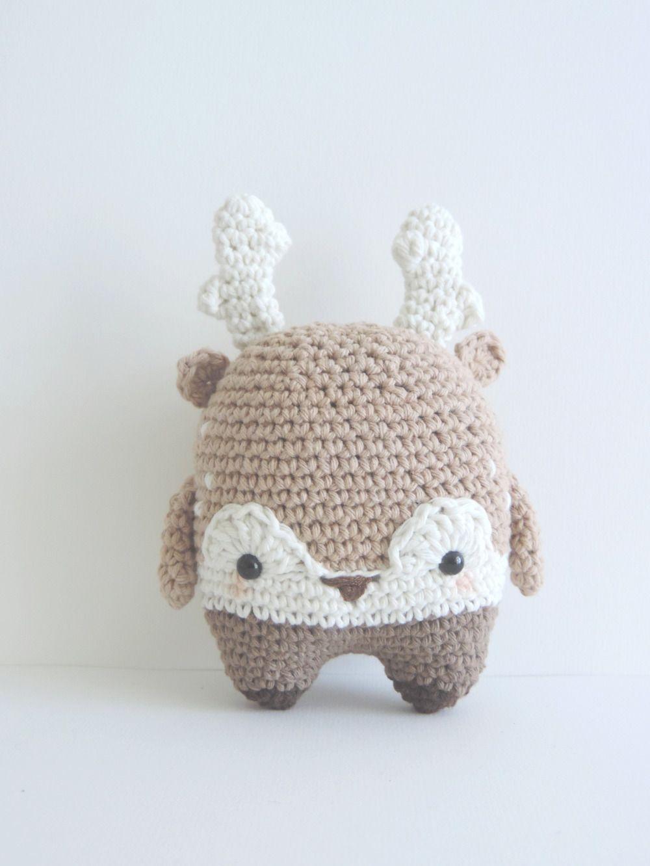 Renne noel decoration peluche decorative, crochet, coton, fait main,  peluche amigurumi, 4bb662abc3d