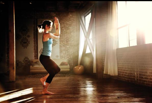My Dream Yoga Space Natural Morning Light Hardwood Floors In An