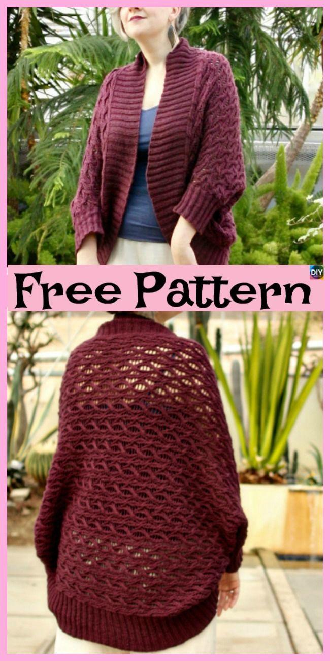 10 Beautiful Knit Blanket Sweater Free Patterns Crochet Freeknittingpatterns Clothes