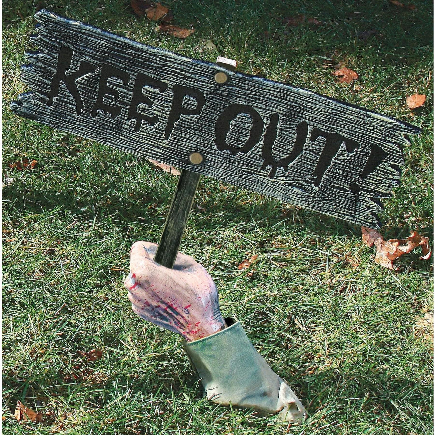 Keep Out Warning From Below - Halloween Yard Decorations