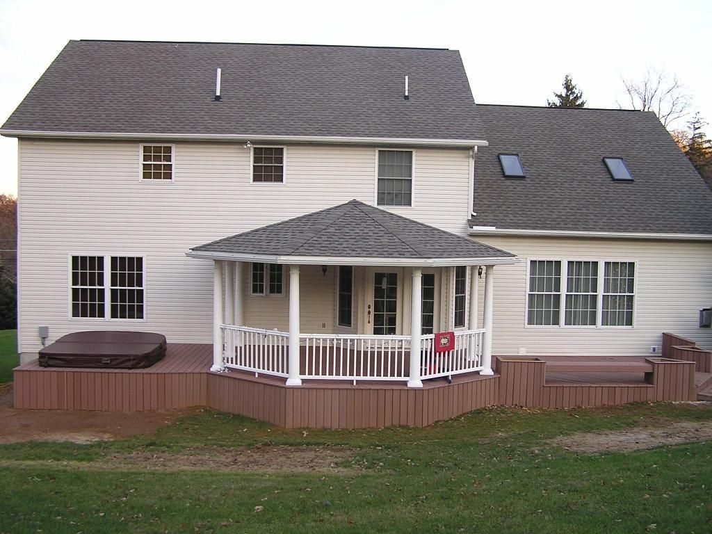Back porch roof ideas - Back Deck Designs Open Porch With Hip Roof Covered Porches Photo Gallery Archadeck