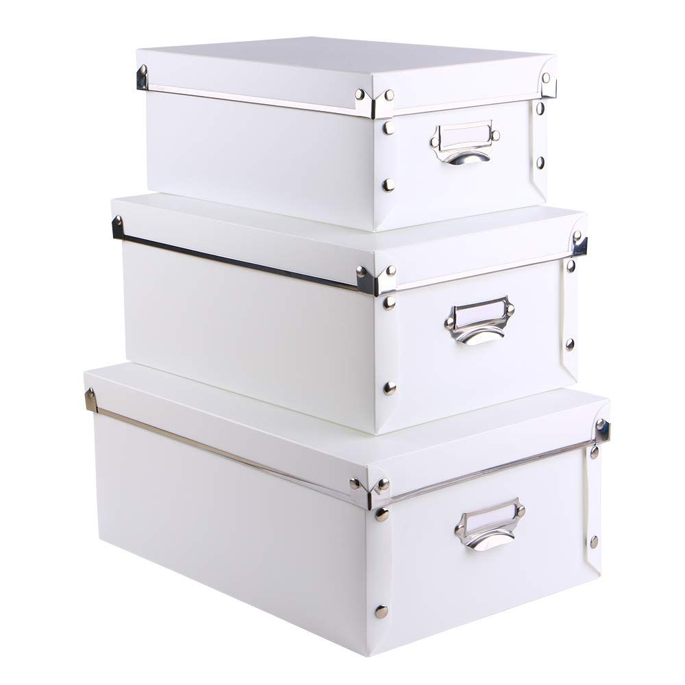 Eagle Decorative Storage Box With Lid Plastic 3 In 1 Set With