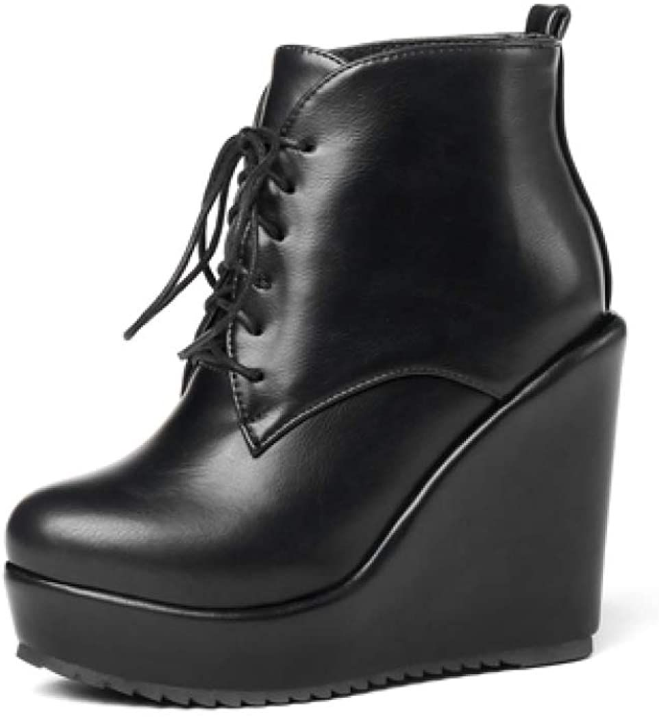 Lace Up Platform Ankle Boots for Women