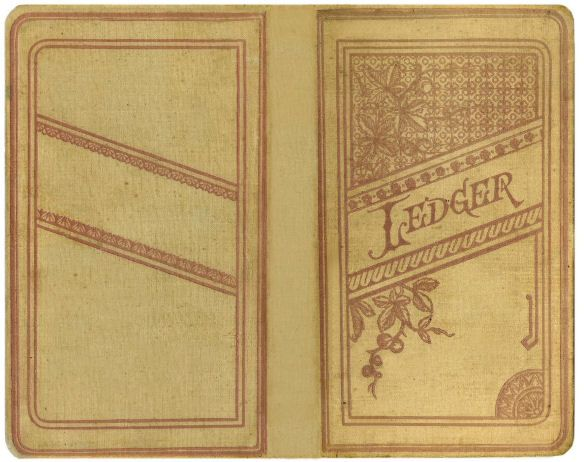 Free Printable Vintage Ledger Book Cover Make a Miniature Book - printable ledger