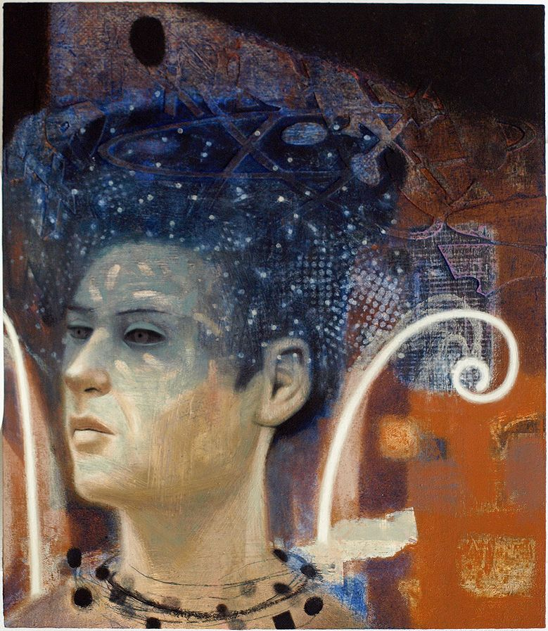 QUEEN OF THE NIGHT oil on panel by Tom Wood