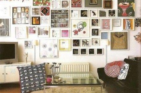 Una galería de arte como elemento decorativo