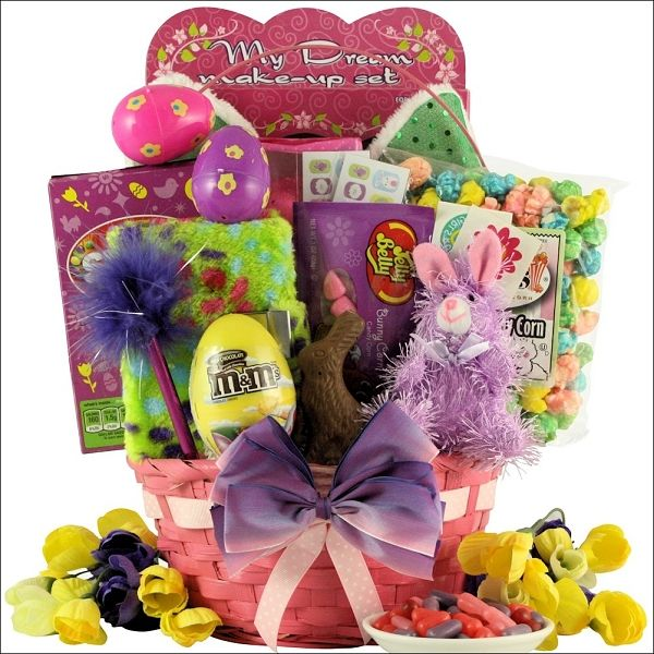 Easter fun gift baskets for girls traditional easter sweets easter fun gift baskets for girls traditional easter sweets trendy gifts for her negle Image collections