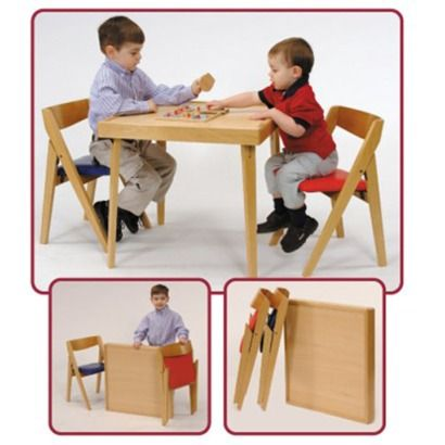 Folding Kids Table   Natural ( For Playroom/school Room)