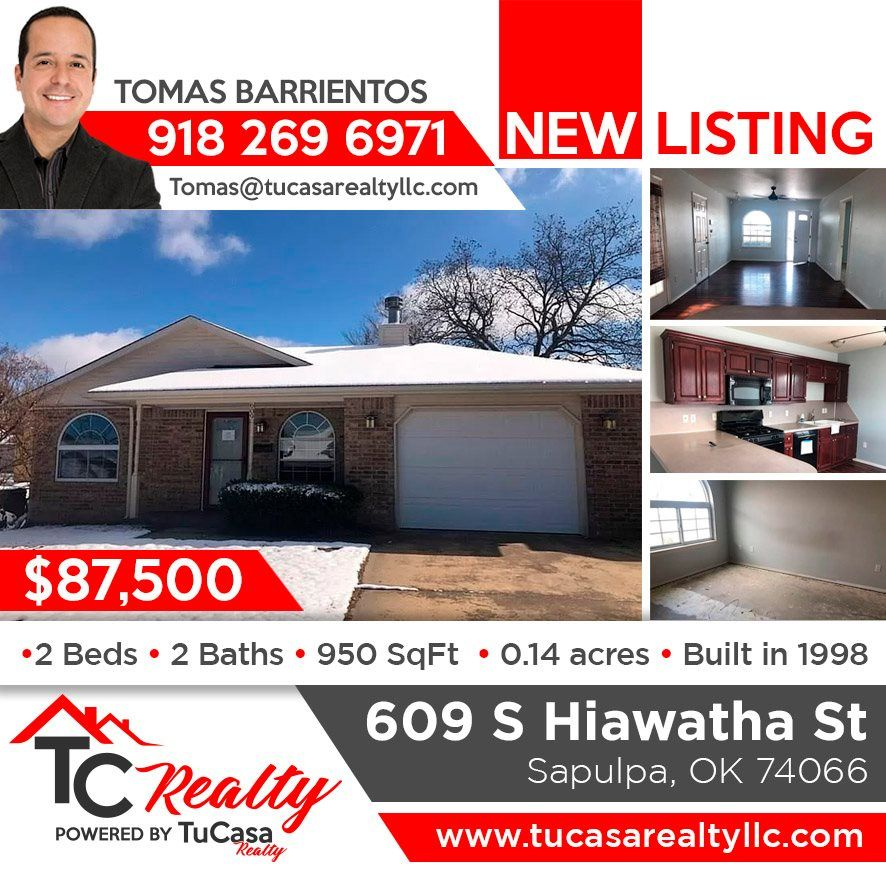 Attention Sapulpa New Listing This Property May Qualify For Seller Financing Vendee 609 S Hiawatha St W In 2020 Sapulpa Real Estate Hiawatha