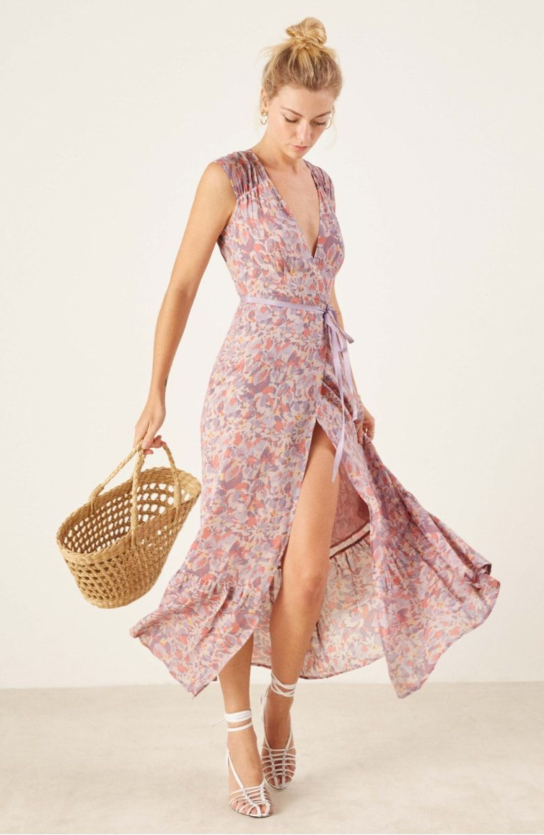 Reformation Haven Wrap Maxi Dress Nordstrom Long Dresses Casual Maxi Dresses Maxi Wrap Dress [ 1197 x 780 Pixel ]