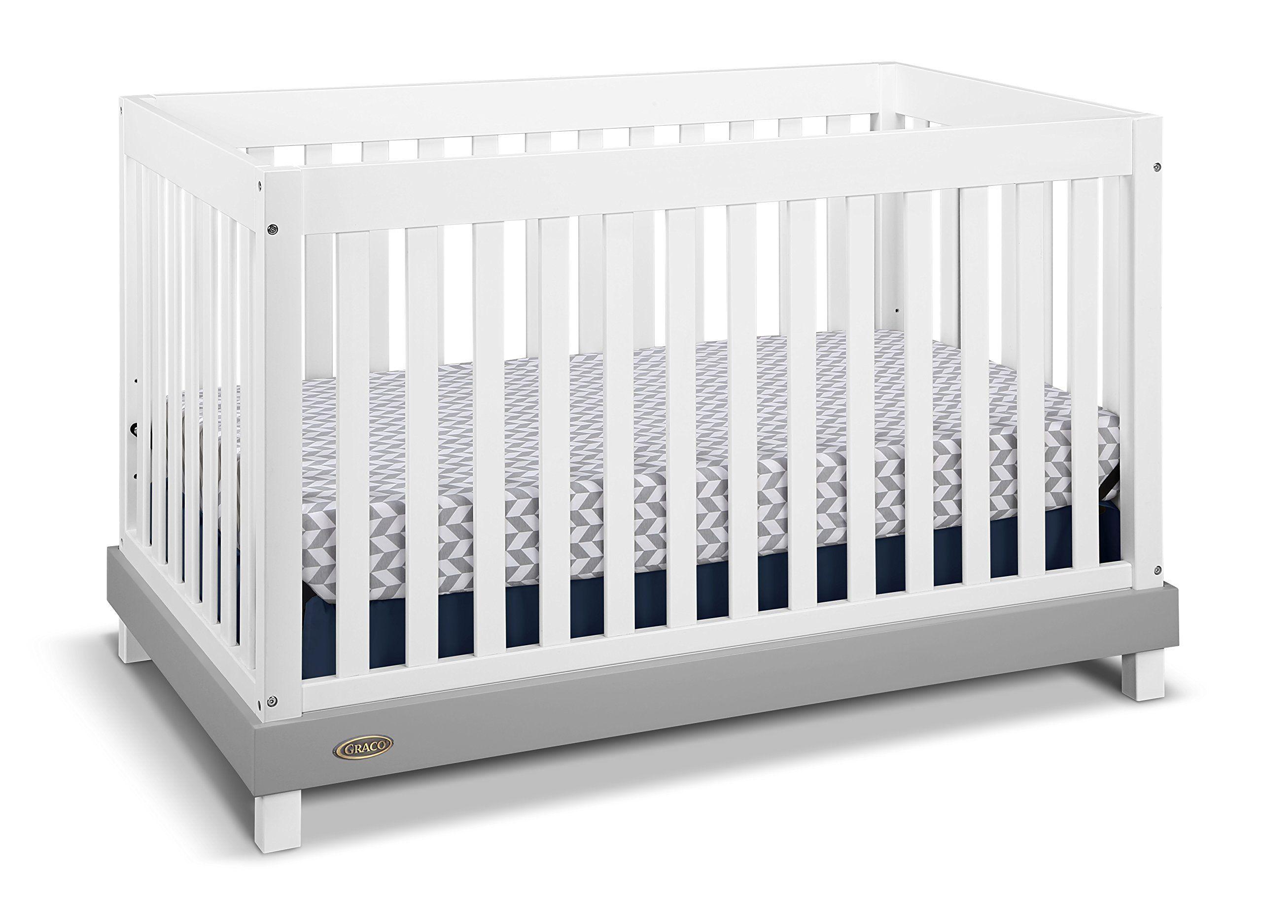 Graco Maddox Convertible Crib White Gray Baby Product Pinterest
