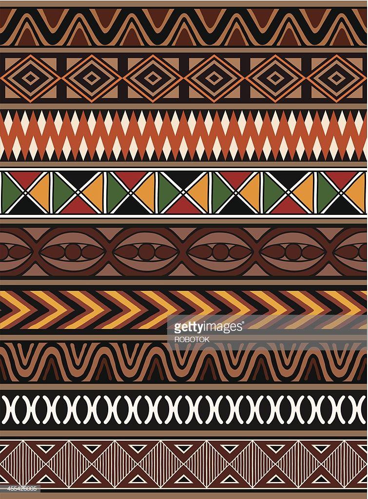 Afrikanische Muster Afrikanisch Digitales Papier