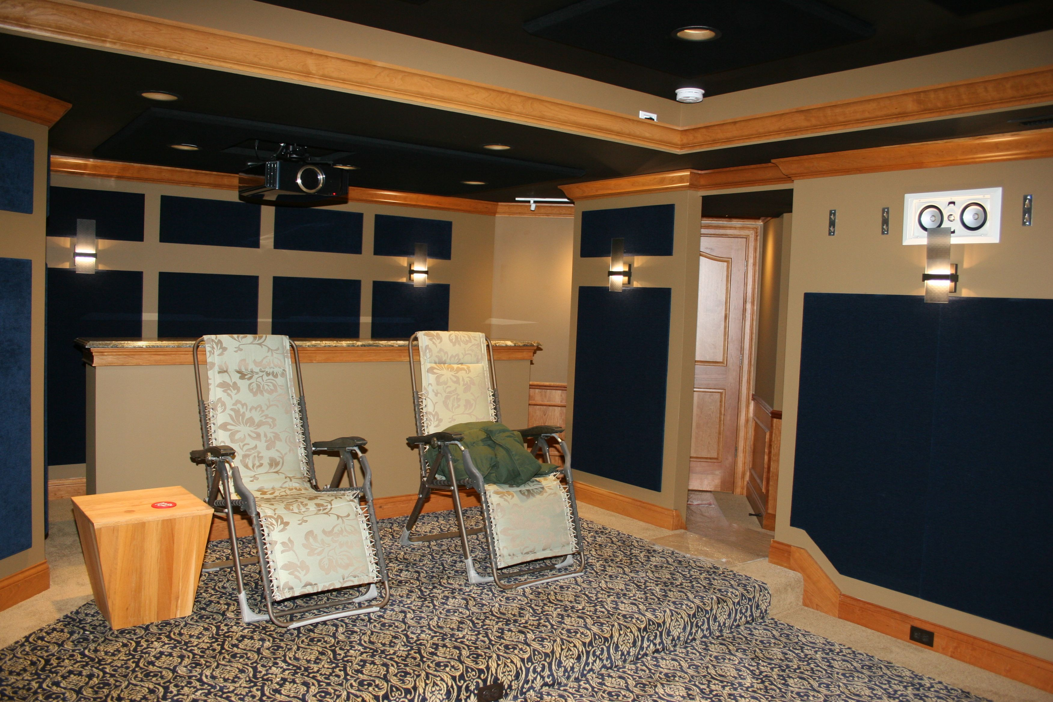 Currently awaiting furniture! DH Custom Home, custom home theater in Chesterfield, MO