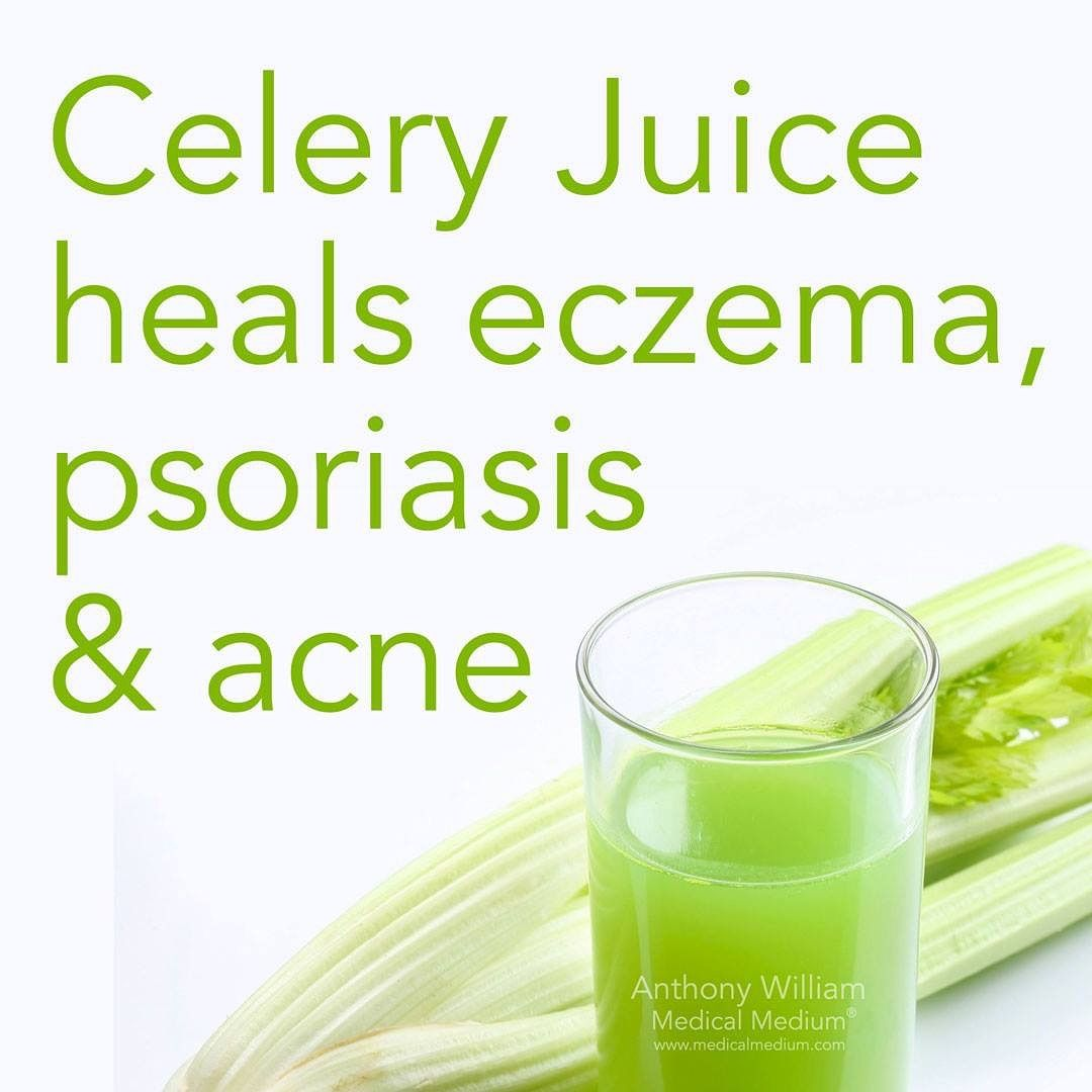 Celery Juice helps heal eczema, psoriasis, & acne🌟 _ Happy