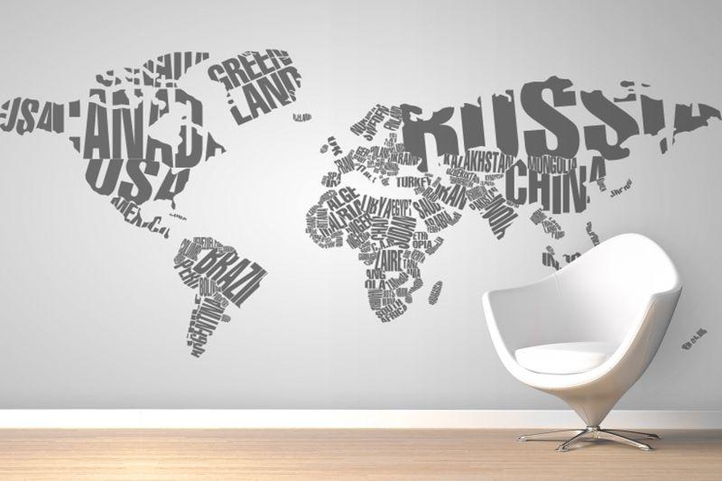 Typography world map wallpaper wall mural bimbi pinterest wall typography world map wallpaper wall mural muralswallpaper gumiabroncs Choice Image