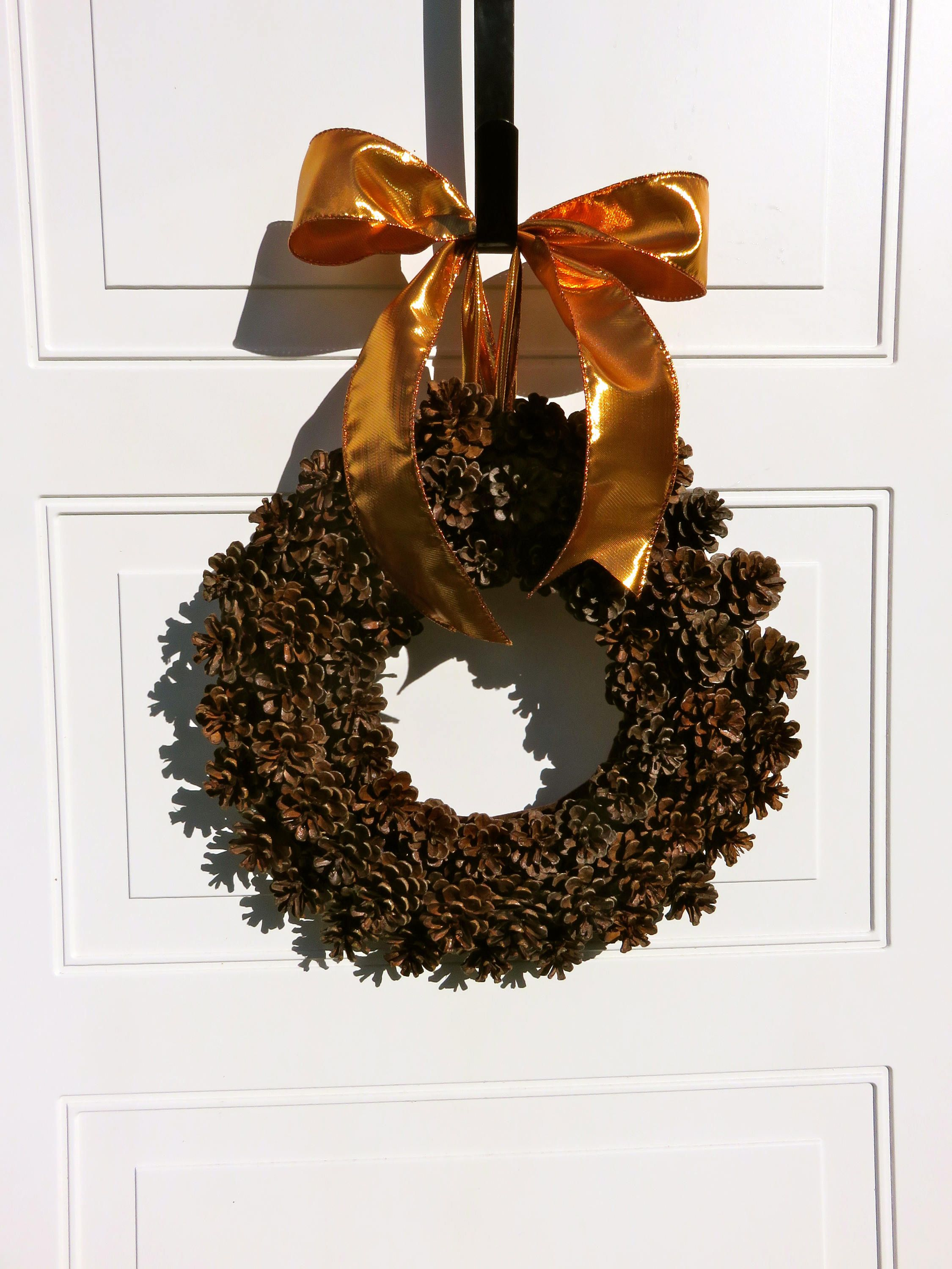 pinecone wreath fall wreath for front door christmas wreath small wreath natural - Small Christmas Wreaths